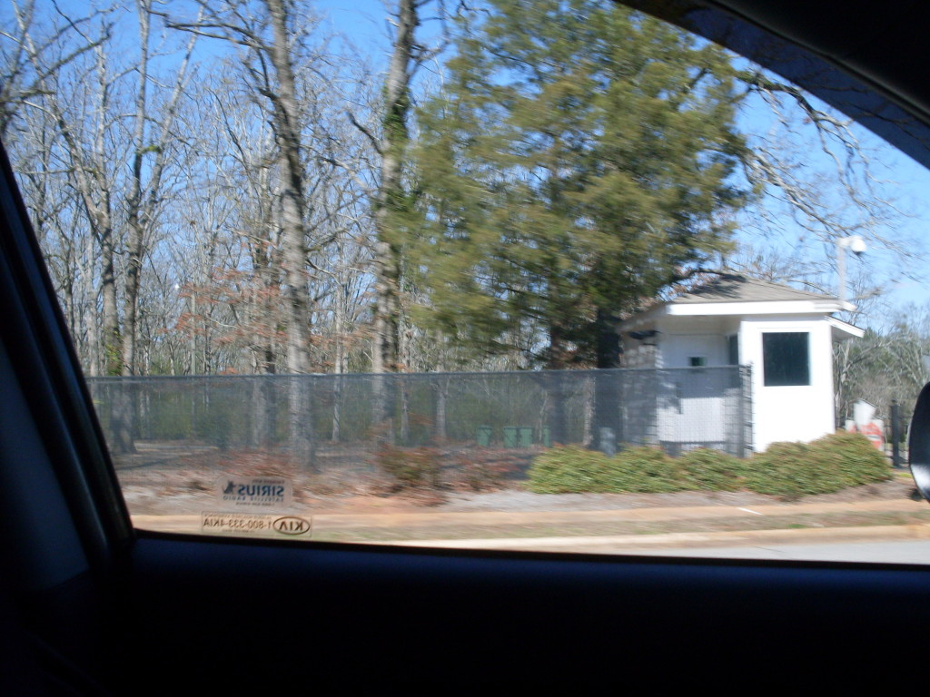 Secret Service guard house at the Carter's current home. THIS IS NOT OPEN TO THE PUBLIC! PLEASE RESPECT THE CARTERS PRIVACY!
